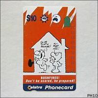 Telstra Emergency Management Bushfires N952723a 891 $10 Phonecard (PH10)