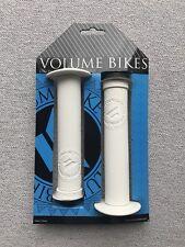 NEW Volume Bikes Jason Enns Signature BMX Grips & Bar Ends White Flanged Primo