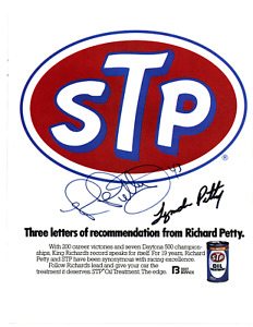 Lynda & Richard Petty original hand signed autographed STP advert