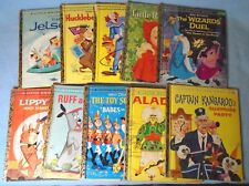 Vintage A Little Golden Book Set of 10 Ruff & Reddy Bozo Captain Kangaroo & More