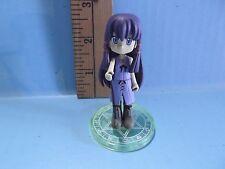 "Negima! Magister Negi Magi Anime 3""in Long Purple Hair Holding Rifle w/Scope"