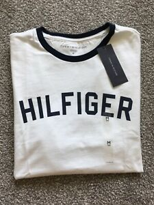 Tommy Hilfiger Mens White Graphic Tee Shirt (XL)