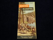 Vintage Official 1959 South Dakota State Highway Road Map  Very Nice!!