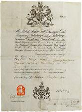 1890 Russia - SIGNED MANUSCRIPT PASSPORT - Capt Younghusband - PM Lord Salisbury