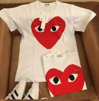 Men's T-shirts Comme Des Garcons CDG Play Colorful Red Heart Cotton Women Tee
