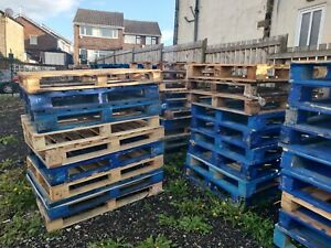 Heavy Duty Wooden Euro Pallets Timber Recycle And Reclaim Free Local Delivery