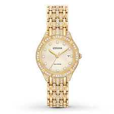 Citizen Eco-Drive Women's EW2322-50P Silhouette Crystal Accents Gold-Tone Watch
