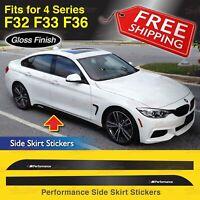 M Performance Seitenschweller Abziehbilder Vinyl für BMW F32 F33 F36 4er GLANZ