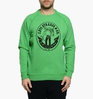 Levis Vintage Clothing LVC 1970s Green Crew Sweater Jumper £119 Made USA New XL
