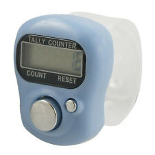 Light Blue Case 5 Digit LCD Electronic Finger Counter Hand Tally N3