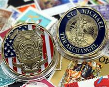 "St Micheal Police Officer Badge Challenge Coin ""Honor Our Fallen Officers Coin """