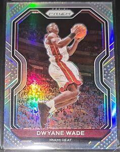 Dwyane Wade 2020-21 Panini Prizm SILVER PRIZM Parallel Insert Card (no.195)