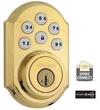 KWIKSET SMARTCODE KEYLESS ENTRY W/ Z-WAVE 910 Polished Brass Gold Deadbolt Lock