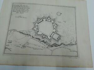 1696. Plan der Stadt /Festung Longwy. Nicolas de Fer . Frankreich. Lothringen