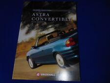 VAUXHALL ASTRA CONVERTIBLE 1.6i MANUAL,1.6i AUTO & 1.8i SALES BROCHURE 1995 1996