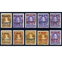 ★★★ EDIFIL 392/401 - CRUZ ROJA COLONIAS SIN FIJASELLO + CERTIF. CMF (+1.685€)★★★