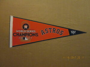 MLB Houston Astros 2017 World Series Champions Style #1 Logo Baseball Pennant