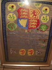 Silk English Antique Embroidery Framed Items
