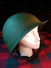 "Vintage USMC ARMY Steel Combat Pot Helmet 9""Diam WWII Era ORIGINAL"
