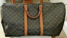 Authentic Vintage Louis Vuitton Keepall 55 Large Duffle Bag Brown Monogram