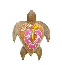 "Hawaiian Souvenir Hawaii Fridge Magnet  ~ 2"" Small Wood Turtle # 18133 (QTY 2)"