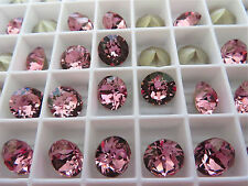 12 Antique Pink Foiled Swarovski Crystal Chaton Stone 1088 39ss 8mm Chatons