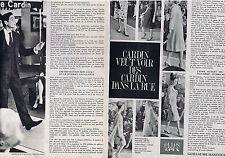 PUBLICITE ADVERTISING 054 1962 PIERRE CARDIN Veut voir du Cardin dans la rue (2p