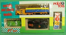 Polfi Metallic and Plastic Cars Set Bmw 635 Ferrari 512 Kenworth Truck Michelin