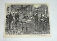1876 magazine engraving ~ PRINCE BISMARK AT COUNCIL, Germany