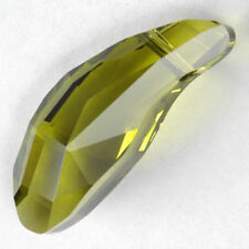 "Authentic SWAROVSKI (Olivine) FACETED Aquiline BEAD Topdrill 28mm (1 1/4"")"