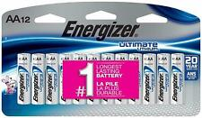 Energizer L91SBP12 Ultimate Lithium AA Batteries12Pack Exp.2039+.20 Yr ShelfLife