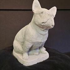 """French Bulldog Concrete Dog Statue 9 1/4"""" Tall Garden Yard Decor"""