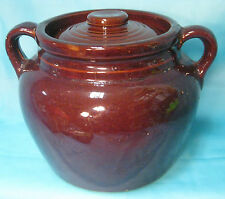 USA Pottery 2 Handle BEAN POT Stoneware
