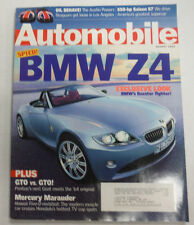 Automobile Magazine BMW Z4 GTO Vs GTO August 2002 070915R