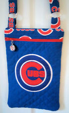 Chicago Cubs Purse - Hand Made to Order - Cross body Quilted - Cubs Team Logo