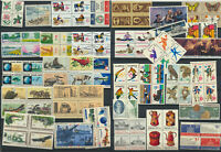 Early Mint NH LOT Se-tenants Collection USA 32 Different Blocks,Pairs,Strips
