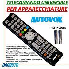 TELECOMANDO UNIVERSALE PER APPARECCHI AUTOVOX-PILE INCLUSE- - INVIARE MODELLO TV
