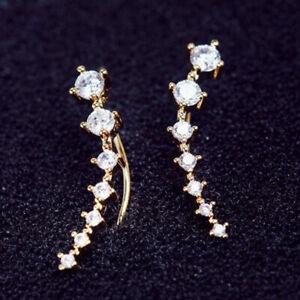 Fashion Silver Gold Plated Rhinestone Hook Earring for Women Wedding Jewelry