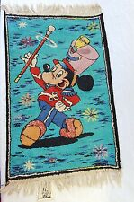 "vintage Disneyland Mickey Mouse rug carpet 22""x36"" Belgium mousketeer drum"