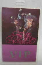 "Stevie Nicks Laminated V.I.P. Backstage Pass 'Bella Donna"" - Fleetwood Mac"