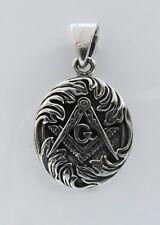 Sterling  Silver  (925)  Masonic  Symbol  Pendant   !!       Brand   New !!