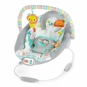 Bright Starts Whimsical Wild Cradling Bouncer Seat,Soothing Vibration & Melodies