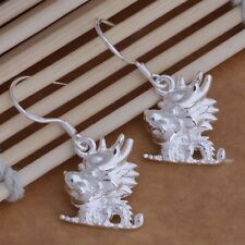 925 impresionantes pendientes de Plata Cabeza De Dragón Disfraz Princesa día de San Valentín Regalo