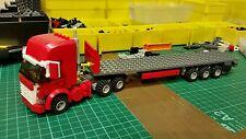 LEGO CITY Custom Rosso Highline Truck con Tri-AXL Pianale Rimorchio MK 4 L @ @ K