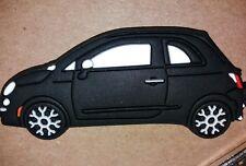 Negro Fiat 500 KEYRING LLAVERO SCHLÜSSELRING Porte-clés CL Abarth doble factor