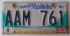 Manitoba 2005 LOW NUMBER License Plate NICE QUALITY # AAM 761