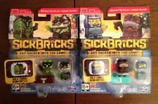 2 Packs Sick Bricks Double Figure Packs -All Different! beam-to-play video game