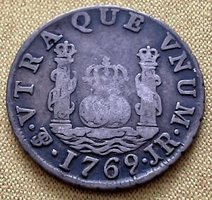 1769 Potosi Charles III Spanish Bolivia Real JR Colonial Coin ***See Description