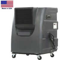 Portable Evaporative Cooler - Direct Drive - 2 Speed - 16 Gallon - Industrial