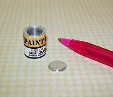"""Miniature One """"Gallon"""" EMPTY Paint Can-GOLD Label: DOLLHOUSE 1/12 Scale"""